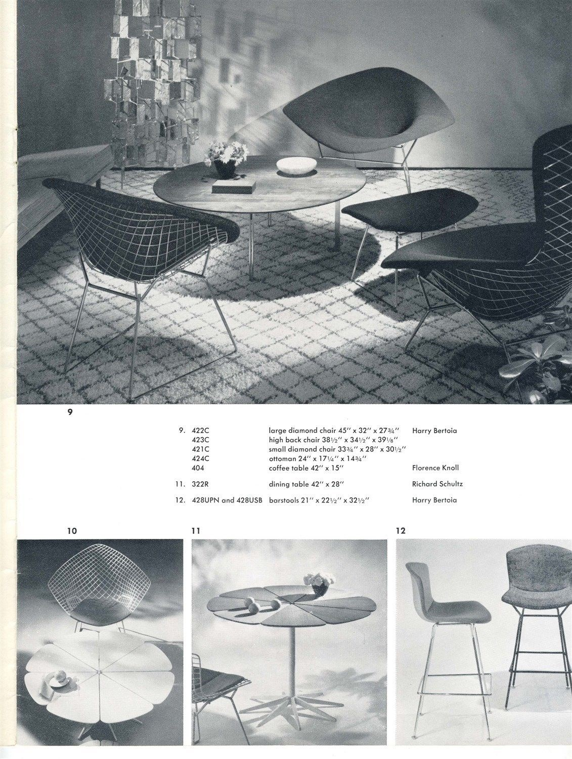 knoll associates inc catalog 1960 39 s office furniture. Black Bedroom Furniture Sets. Home Design Ideas