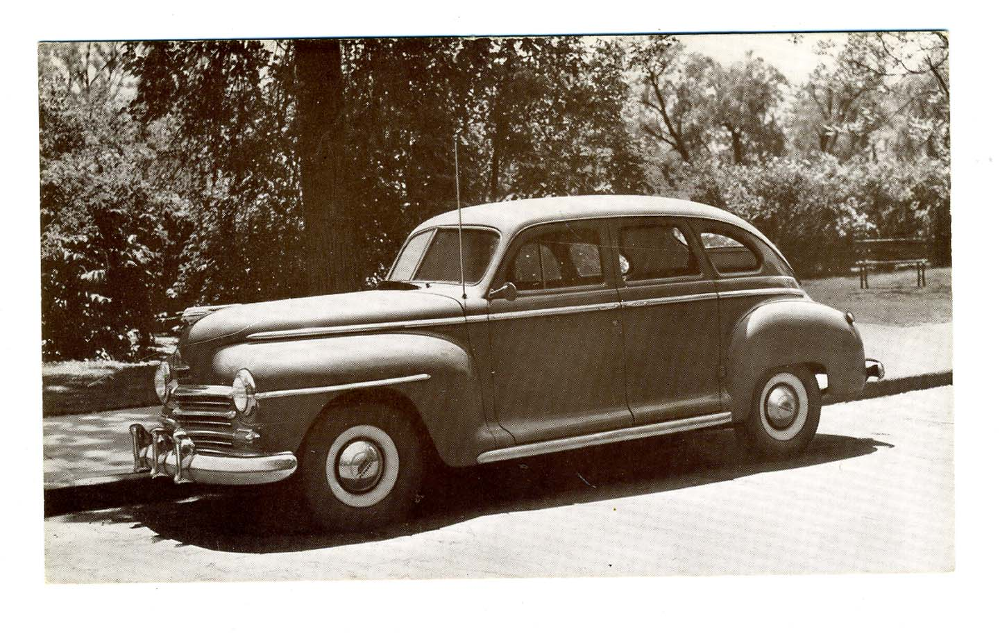 1947 plymouth 4 door sedan dealer advertising postcard 92 for 1947 plymouth 4 door sedan