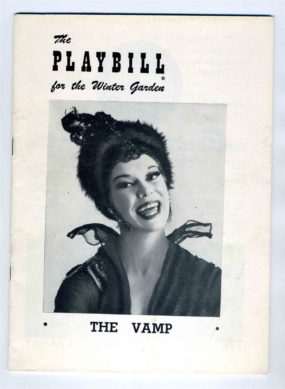 1955 the vamp carol channing playbill winter garden theatre new