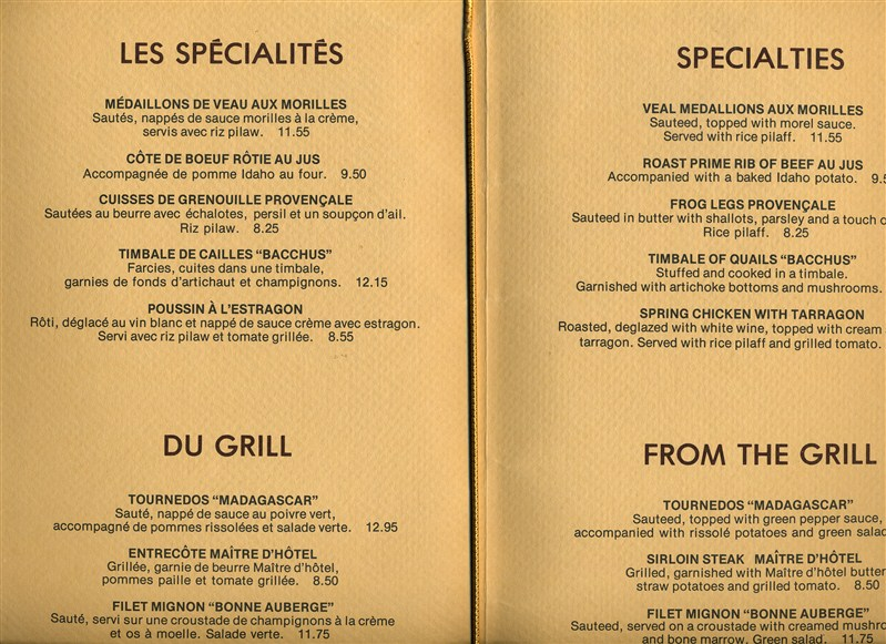 Casino montreal restaurant menu