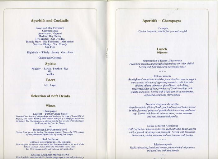 British Airways CONCORDE Menu & Flight Certificate 1983 - bidStart ...
