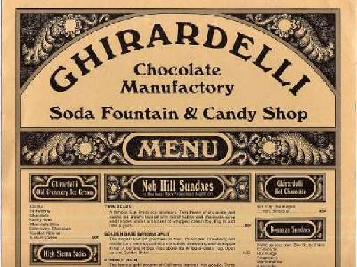 Ghirardelli Square Ice Cream Menu Ghirardelli an Ice Cream a