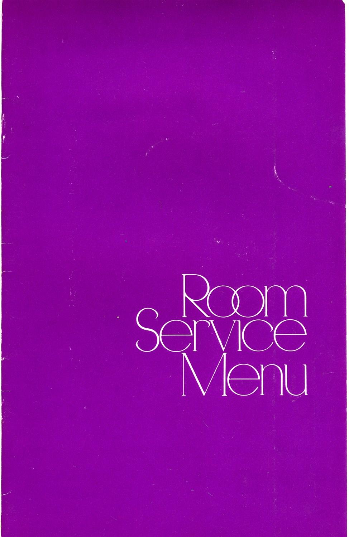 Hyatt Regency Hotel Houston Texas Room Service Menu 1970S on
