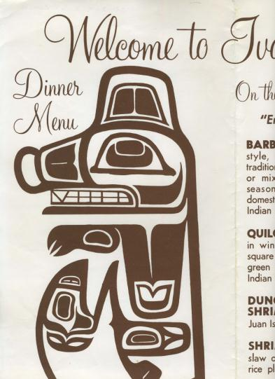 Ivars Indian Salmon House Menu Seattle Washington 70s On Popscreen