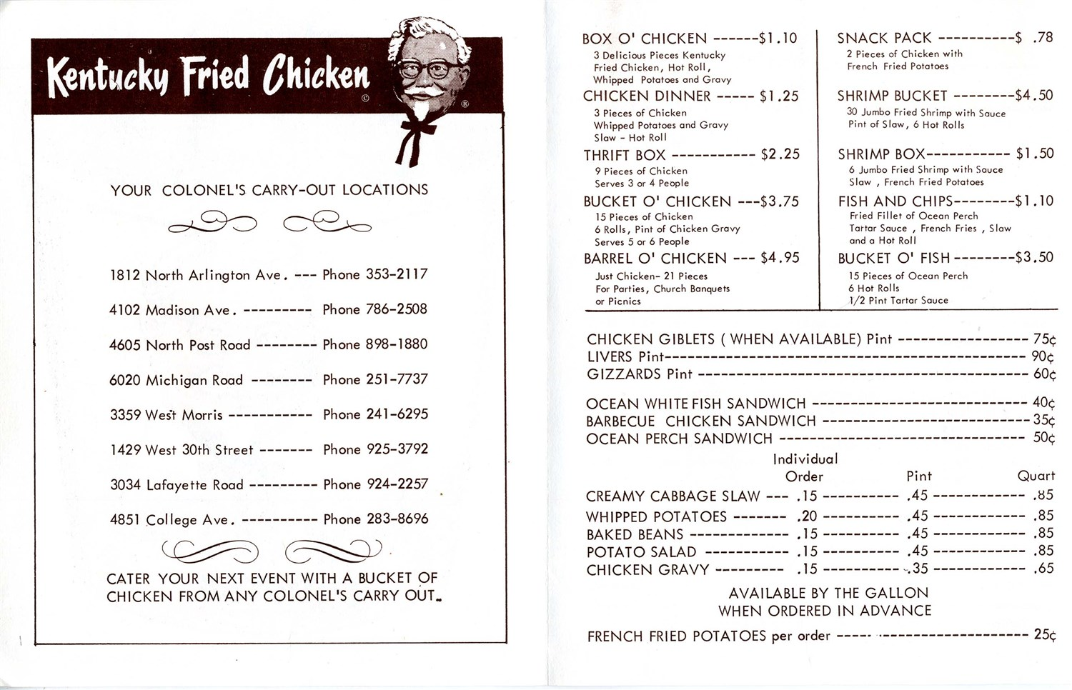 Kfc Fried Chicken Menu - photo#18