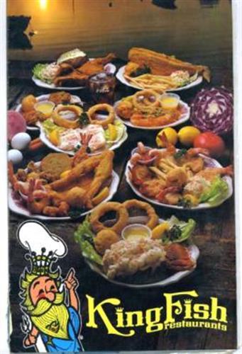 King fish restaurants menu ohio river in louisville for Fish restaurants louisville ky