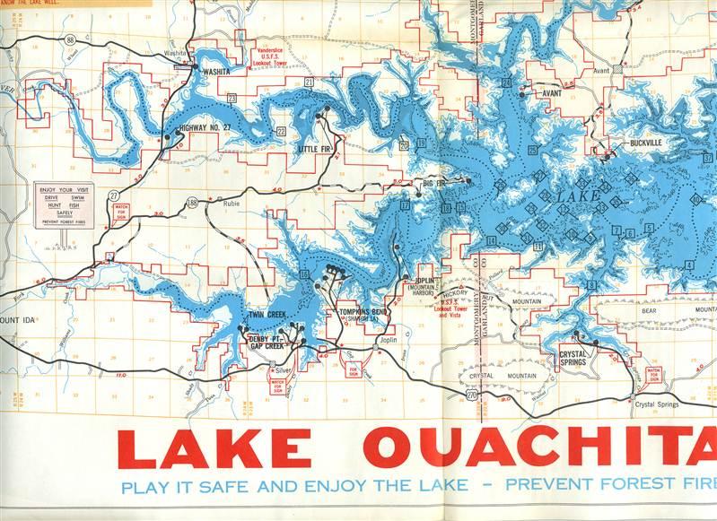 Blakely Mountain Dam Amp Lake Ouachita Brochure Map Ouachita