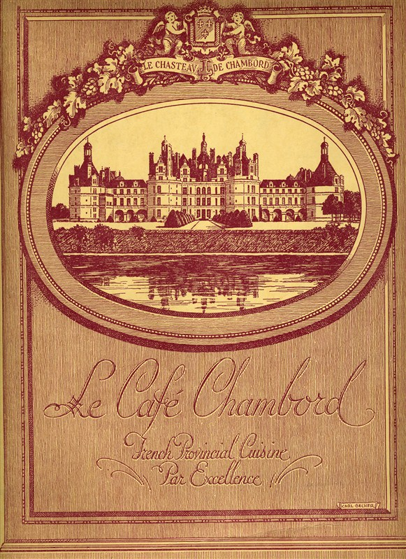 Le cafe chambord restaurant menu new york french - French provincial cuisine ...