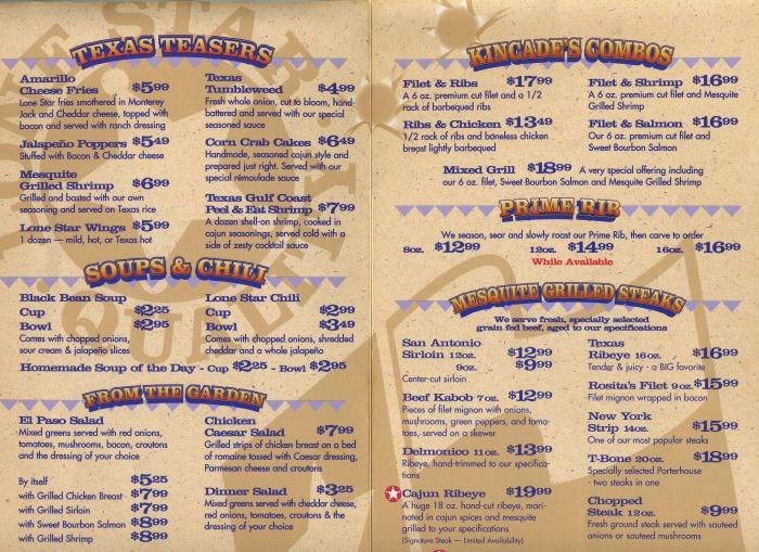 photograph about Texas Roadhouse Printable Menu titled Lone star steak household menu - Sidelines maumee
