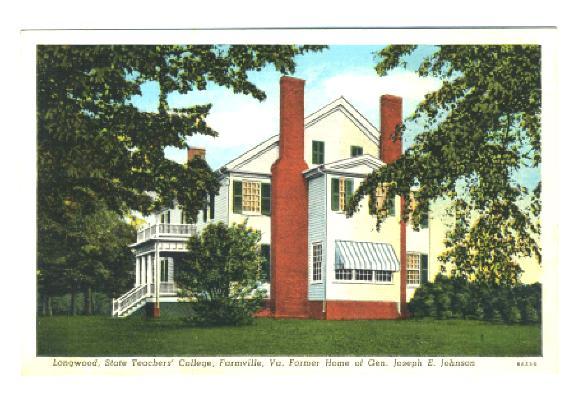 Farmville (VA) United States  city photos : Details about Longwood State Teachers College Farmville VA Postcard