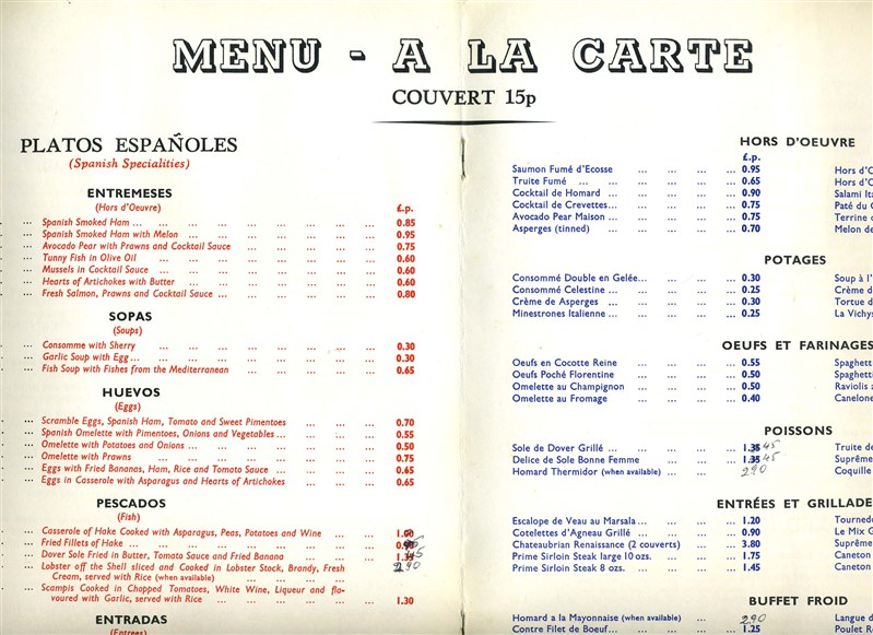 Spanish Restaurants Menu Spanish Restaurant on