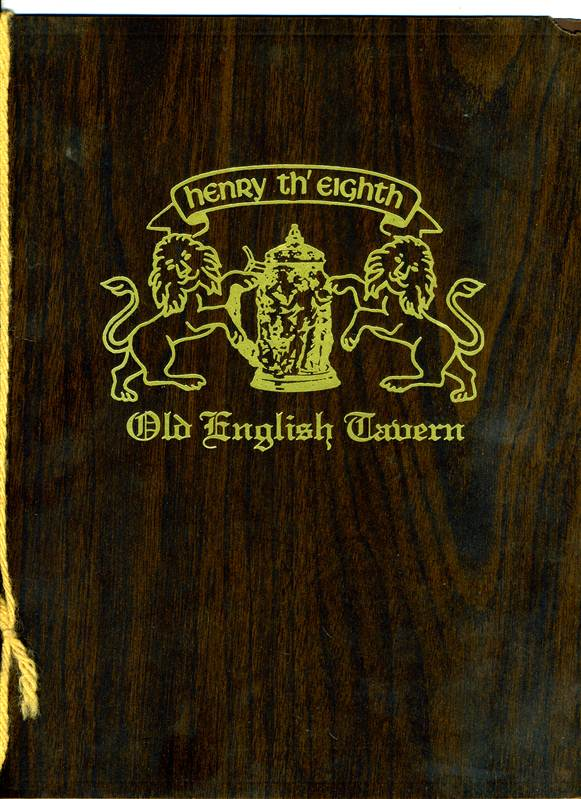 Old English Taverns http://www.ebay.com/itm/Henry-th-Eighth-Old-English-Tavern-Menu-/190838666910