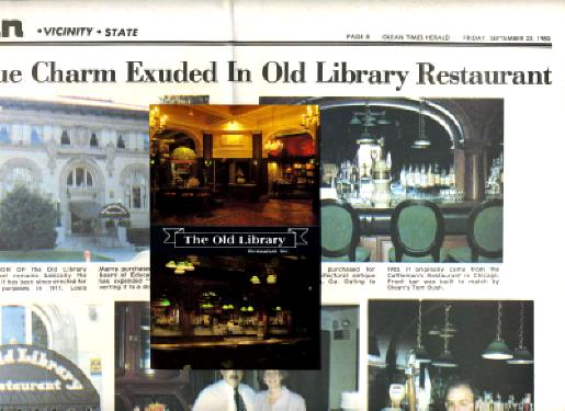 old new york times newspapers. The Old Library Menu