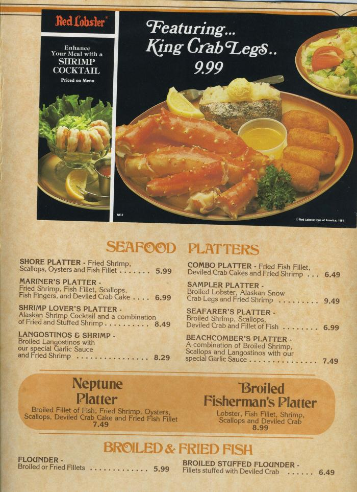 Red Lobster Menu And Prices Canada