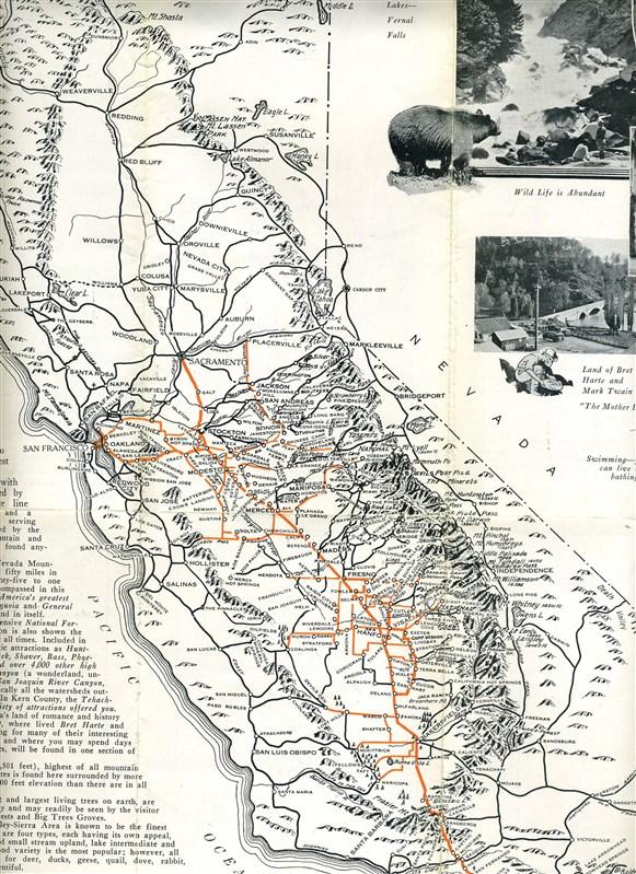 Joaquin (TX) United States  city images : California San Joaquin Valley Sierra Region Brochure 1932 National ...