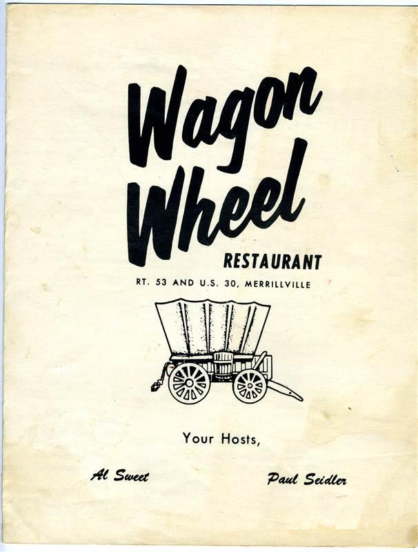 Wagon Wheel Restaurant Menu Merrillville Indiana 1960 - bidStart ...